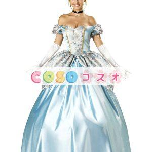 コスチューム衣装 童話 セクシー 人気 ハロウィン 不思議の国のアリス ライトスカイブルー 大人用 女性用 ―festival-0004