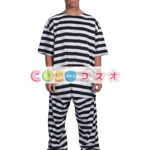 ハロウィン 囚人 コスチューム ストライプ コスチュームコスプレ―festival-0019