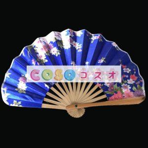 頭飾り 扇子 ブルー 竹 入浴 日本 ジャパニーズ―festival-0048
