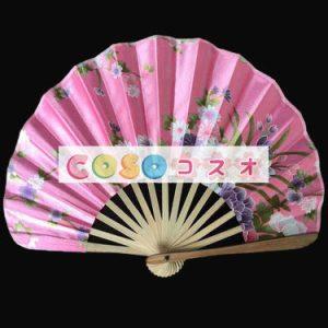 頭飾り 扇子 ピンク 竹 入浴 日本 ジャパニーズ―festival-0137