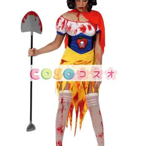 ハロウィン ゾンビ 白雪姫 スノーホワイト コスチューム 女性用 ポリエステル―festival-0582