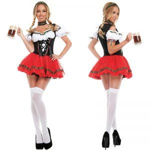 コスプレ衣装 ビールガール ハロウィン ドイツ コスチューム -halloween-trz0725-0374