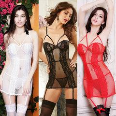 セクシーランジェリー ドレス 透かし彫り 単色 バックレス 女性用 セクシー -halloween-trz0725-0381