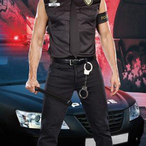 コスプレ ハロウィン ポリス コスプレ衣装 セクシー 制服 衣装 警官 警察 男性女性 ハロウィン コスチューム 衣装 仮装 ミニスカート POLICE  Couples Costumes-Halloween-trw0725-0003