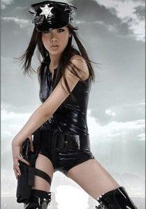 客室乗務員 制服 セクシー 警察 コスプレ スカート PU-Halloween-trw0725-0011