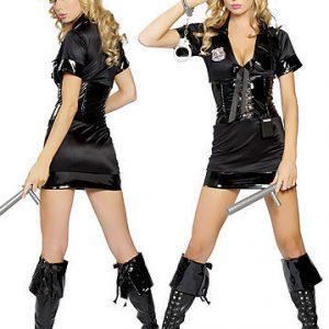 COSPLAY パーティー 制服 警官 婦警 ミニスカ コスプレ ポリス-Halloween-trw0725-0013