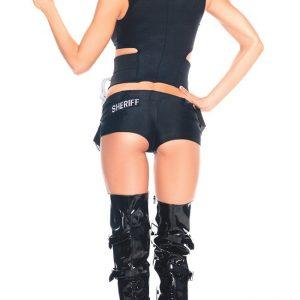 パーティー ブ セクシー制服 アメリカ 警官 婦警 ミニスカ コスプレ ポリス-Halloween-trw0725-0015