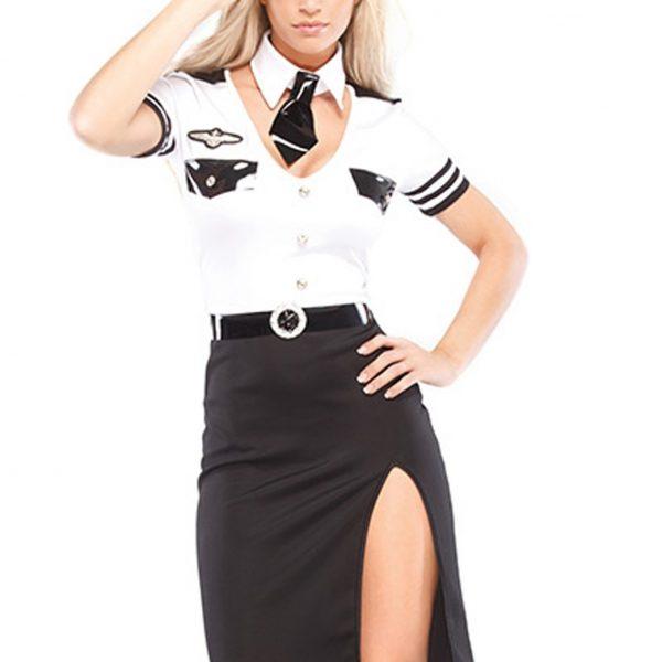COSPLAY OL パーティー 制服 警官 婦警 ミニスカ コスプレ ポリス-Halloween-trw0725-0017 1