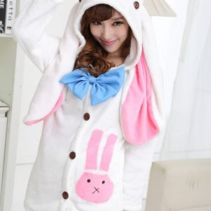 Hatsune Miku 初音ミクコスプレ衣装 パジャマ コス バニー アニマル コスチューム ハロウィン メイド服-Halloween-trw0725-0022