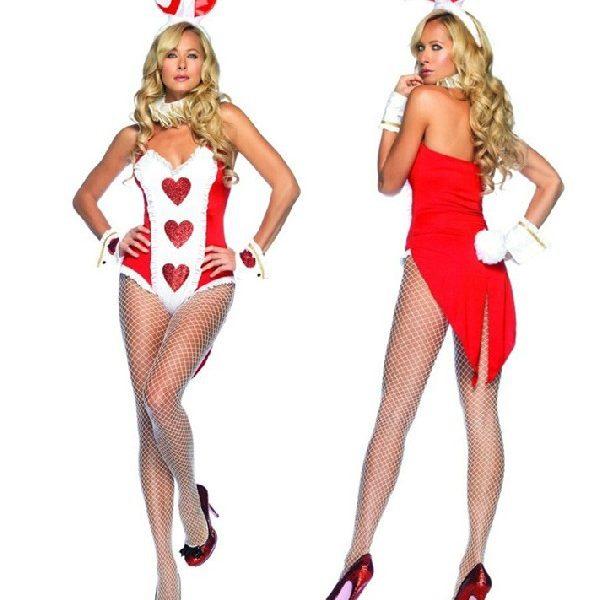 3色の選択肢があります バニーガール コスプレ衣装 メイド服 ウサギ うさ耳-Halloween-trw0725-0025 1