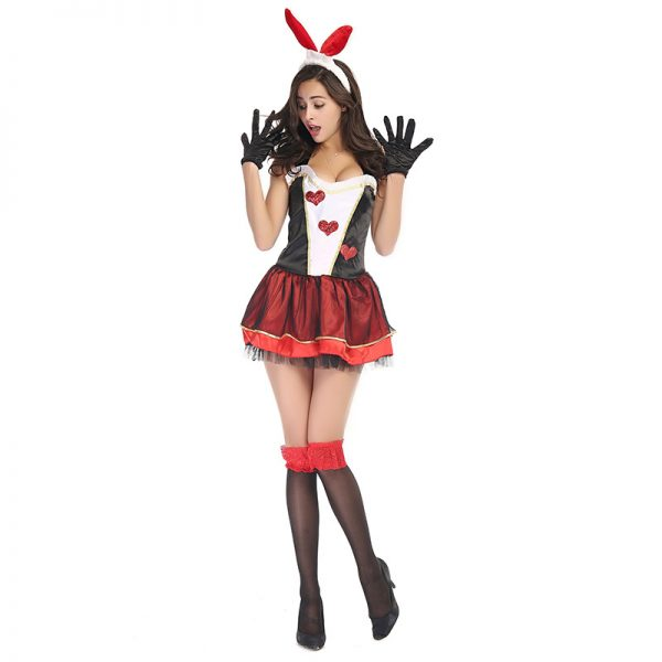 Bunny Costumes セクシー ハロウィン コスプレ衣装 ナイトクラブ 制服-Halloween-trw0725-0028 1