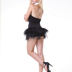 仮装 白黒 バニーガール コスプレ衣装 バニー アニマル コスチューム ハロウィン メイド服-Halloween-trw0725-0034