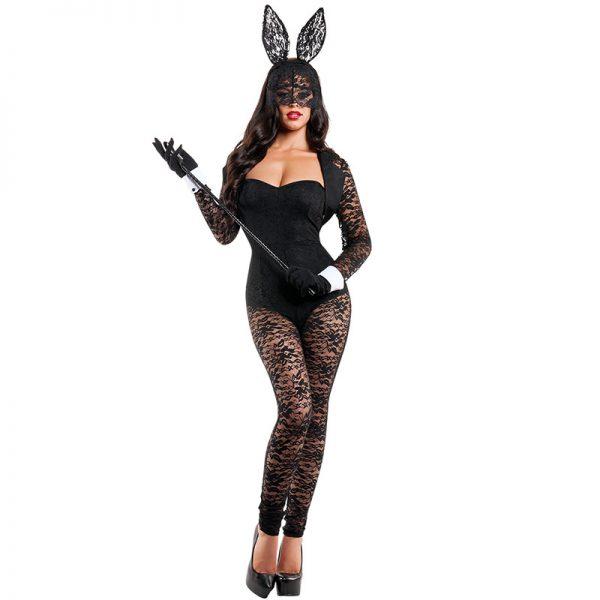 Bunny Costumes レース セクシー ハロウィン コスプレ衣装 ナイトクラブ 制服-Halloween-trw0725-0036 1