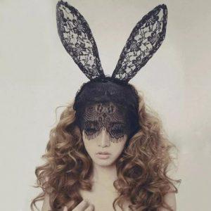 仮装 バニーガール コスプレ衣装 バニー レース アニマル コスチューム ハロウィン メイド服-Halloween-trw0725-0037