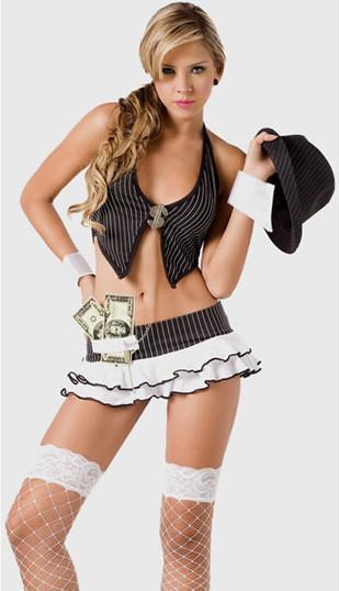 disfraz gangster ナイトクラブ コスプレ セーラー服 制服 女子高生 学生服-Halloween-trw0725-0065 1