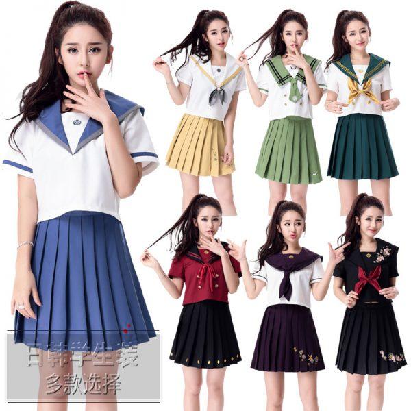 7カラーからお選びます 【ハロウィン】セーラー服 コスプレ 制服 女子高生 ブレザー ハロウィン S M L XLサイズあり-Halloween-trw0725-0066 1