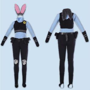 ディズニー(Disney) ズートピア Zootopia Judy Hopps ジュディ・ホップス 映画Ver コスプレ 兎耳-Halloween-trw0725-0069