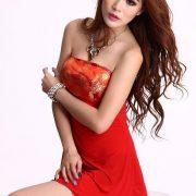 コスプレ レッド セクシー 着物 2点セット 浴衣 着物ドレス 和服 ハロウィン-Halloween-trw0725-0078