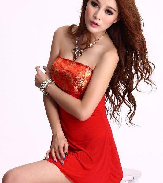 コスプレ レッド セクシー 着物 2点セット 浴衣 着物ドレス 和服 ハロウィン-Halloween-trw0725-0078 1