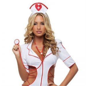 ナース服 コスプレ ナース 看護婦 コスチューム 看護師 コスプレ衣装 ナース服衣装 衣装 白衣 コス 職業 天使 ナース セクシー cos キレイめ-Halloween-trw0725-0083