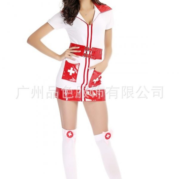 Nurse Costumes 白 看護婦 医者 ハロウィン cosplay衣装 セクシー コスプレ衣装-Halloween-trw0725-0093 1