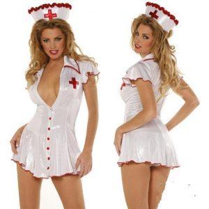 ナース服 Nurse Costume ナイトクラブ cosplay衣装 セクシー コスプレ衣装 制服-Halloween-trw0725-0096