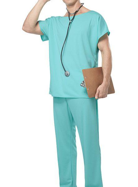 Doctor Scrubs Costume ハロウィン コスプレ衣装 ナース服 ナイトクラブ-Halloween-trw0725-0100 1