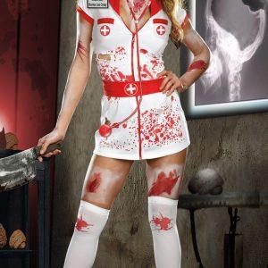 コスプレ ナース ナース服  看護婦 女医  白衣 医者 ゾンビ 血  制服 -Halloween-trw0725-0101