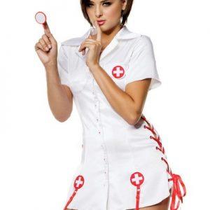 ナース服 Sexy Nurse Costume コスプレ衣装 看護婦 制服 医者-Halloween-trw0725-0102