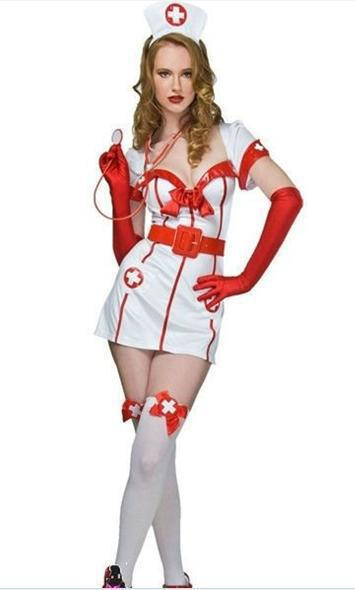 Nurse Costumes 白 ナース服  セクシー コスプレ衣装 制服セクシー コスプレ-Halloween-trw0725-0104 1