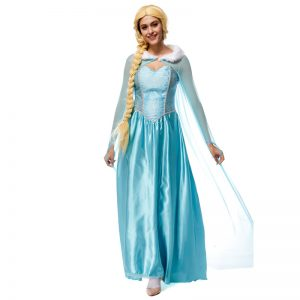コスプレ アナと雪の女王 ドレス ELSA ディズニープリンセス Disney Princess Cinderella 女性 ガウン 大人用 プリンセス お姫様-Halloween-trw0725-0120