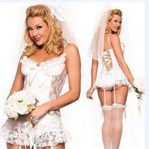 白 花嫁 舞台演出服 ハロウィン 制服 ナイトクラブ コスプレ衣装 結婚式-Halloween-trw0725-0146