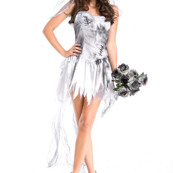 ハロウィン コスプレ衣装 お花嫁 鬼新娘 死体 女性 大人用 魔女っ子-Halloween-trw0725-0147 1