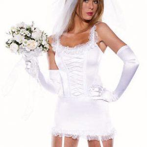 セクシー 白 花嫁 コスプレ衣装 舞台演出服 制服 変装 仮装 レディース 結婚式 撮影用-Halloween-trw0725-0150