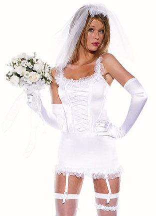 セクシー 白 花嫁 コスプレ衣装 舞台演出服 制服 変装 仮装 レディース 結婚式 撮影用-Halloween-trw0725-0150 1