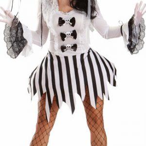 バンパイア ハロウィン 鬼新娘 魔女 プリンセス cosplay ドレス 幽霊 コスチューム衣装 頭蓋骨-Halloween-trw0725-0153
