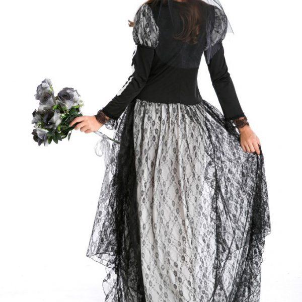 バンパイア ハロウィン 鬼新娘 魔女 プリンセス cosplay ドレス 幽霊 コスチューム衣装 頭蓋骨-Halloween-trw0725-0155 1
