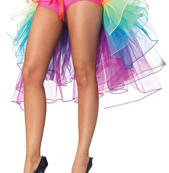 バッスルタイプレインボーパニエ・テールスカート/チュチュ/ペチコート/コスプレ/セクシーコスプレ・ハロウィン・halloween・仮装パーティ、キャバクラ、お店、キャバ衣装・ナイトドレス・セクシード-Halloween-trw0725-0167 1
