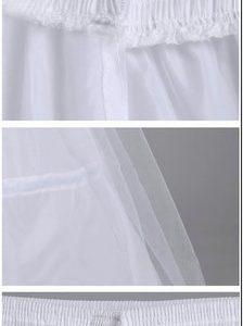 白の結婚式のペチコート ティアード チュール ポリエステル フレア ペチコート-Halloween-trw0725-0185