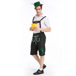 オクトーバーフェスト 大人用 German Lederhosen ハロウィン コスチューム コスプレ 衣装 変装 仮装-Halloween-trw0725-0217