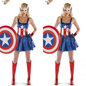 コスプレ衣装 マーベルヒーロ コスプレ アベンジャーズ 映画 ハロウィン キャプテン アメリカに変身♪ Captain America セクシー 誘惑 スパイ ディスガイズ(disguise)船長-Halloween-trw0725-0225