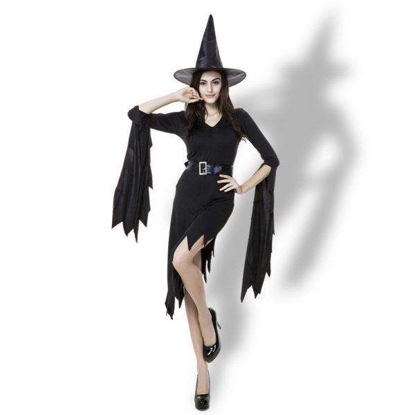 Witch Costumes  ブラック 魔女  ドレス  ハロウィン コスプレ服-Halloween-trw0725-0236 1