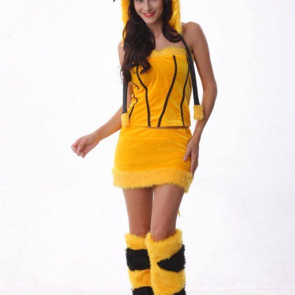 ハロウィン コスプレ コスチューム 衣装 仮装  ハロウィーン ピカチュウ-Halloween-trw0725-0237 1