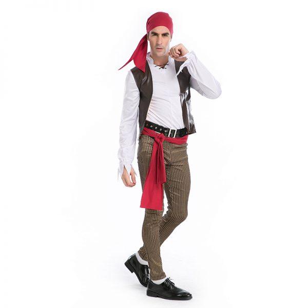 Pirate カリビアン 大人用 海賊 船長  ハロウィン cosplay 舞台演出服 コスプレ衣装-Halloween-trw0725-0243 1