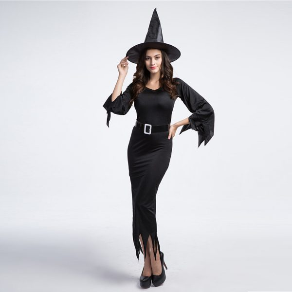 Witch Costume  ブラック 魔女 装 ハロウィン コスプレ衣装 悪魔  巫女 大人用 仮装コスチューム-Halloween-trw0725-0246 1