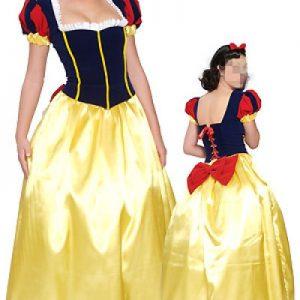 Disney cosplay ハロウィン ホワイト 雪プリンセス服 ディズニー 仮装パーティー 舞台演出服 コスチューム衣装-Halloween-trw0725-0247