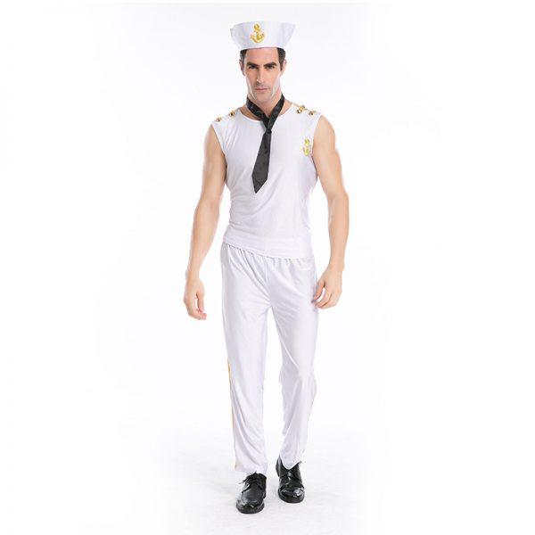 スプレ衣装 セーラー服 メンズ 大人用 セクシー ネイビー costume 海軍服 セーラー服 水兵 男性用 制服 マリンコスプレ 水兵服 海軍 ハロウィン 水兵さん-Halloween-trw0725-0293 1