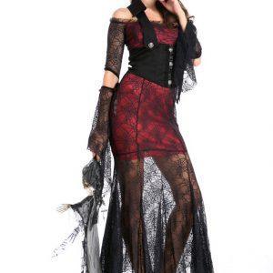 Vampire バンパイア  コスプレ服  ハロウィン ドレス 巫女 変装 仮装 大人用 学園祭 パーティー服 変装 仮装 大人用-Halloween-trw0725-0304