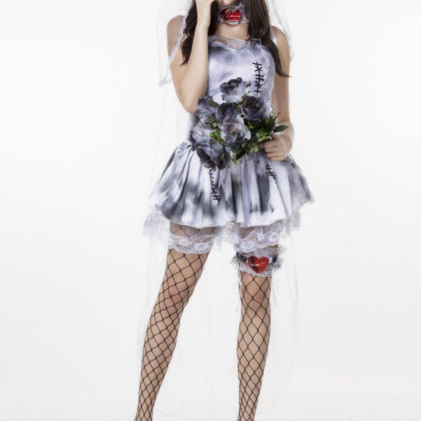 ハロウィン お花嫁 鬼新娘 幽霊 コスチューム衣装 大人用 吸血鬼 ヴァンパイア-Halloween-trw0725-0307 1