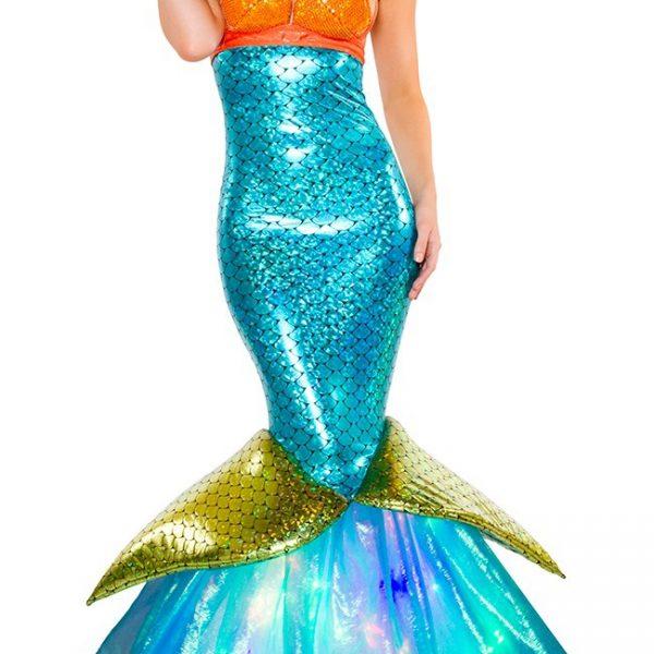 コスプレ 衣装 ハロウイン 仮装 ドレス ワンピース 人魚姫 リトル・マーメイド コスチューム-Halloween-trw0725-0308 1